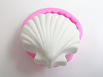 Wocuz W0339 Seashell Shape Soap Making Mold Silicone Candy Fondant Chocolate Accessory Mould