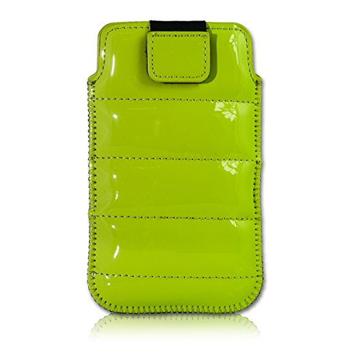 Handy Tasche Case Schutz Hülle Schutzhülle Schale Etui Glamour Style grün G2 Gr.3 für Samsung C3312 Rex60 / S5222R Rex80 / Galaxy Young S6310 / Galaxy Young Duos S6312 / Galaxy Pocket Plus S5301 / Samsung Galaxy Pocket Neo S5310 / Alcatel OT 903D / Alcatel OT Star 6010D