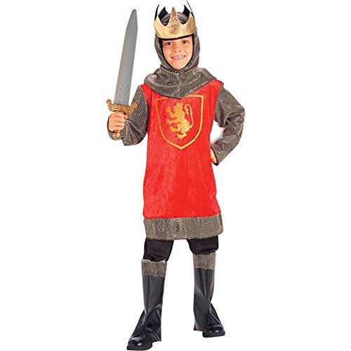 Kid's Crusader King Costume (Size: Small 4-6)