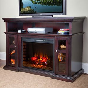 Pasadena 60-inch Electric Fireplace Media Console - Espresso - 28mm468 picture B005T09FP2.jpg