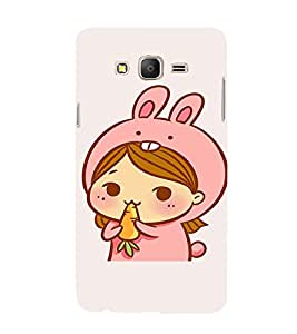 EPICCASE Girl As cute Rabbit Mobile Back Case Cover For Samsung Galaxy On5 (Designer Case)