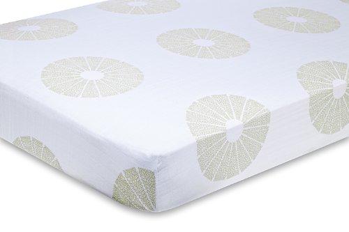 aden + anais organic crib sheet, oasis