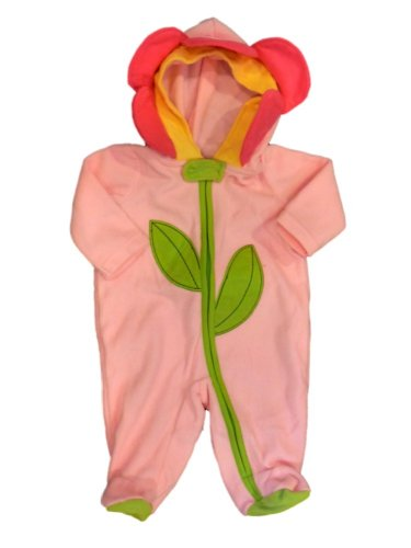 Holiday Editions Infant Girls Pink Sunflower Sleeper Flower Costume Pajamas PJS