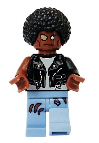LEGO Zombie (Black Jacket) - LEGO Halloween Minifigure