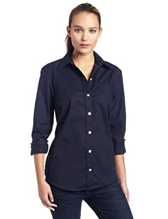 Dickies womens long sleeve stretch poplin shirt at amazon for Womens stretch button down shirt