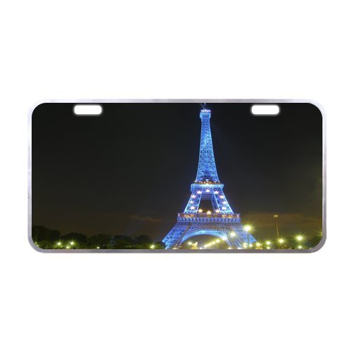 paris-eiffel-tower-license-plate-with-cheap-sale-118-x-61-inches-silver-trim