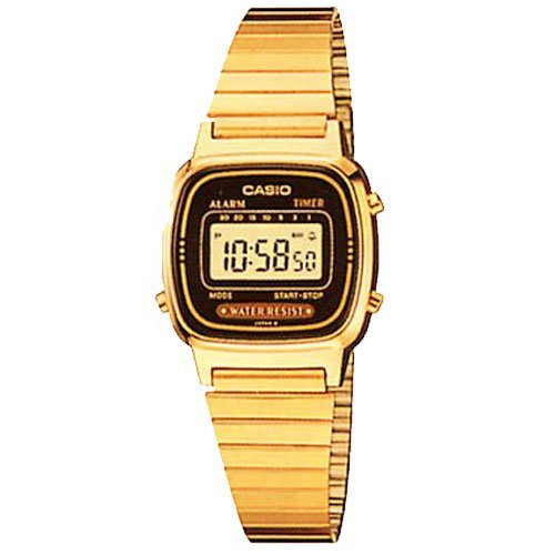 Casio Ladies Gold Tone Digital Watch Alarm Chronograph LA670WGA-1CR