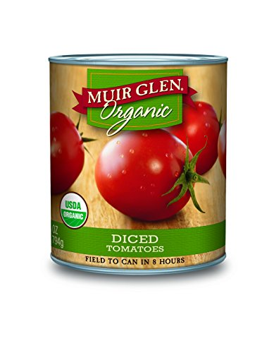Muir Glen Organic Diced Tomatoes, 28-Ounce Cans (Pack of 12) (Tomato Diced Can compare prices)