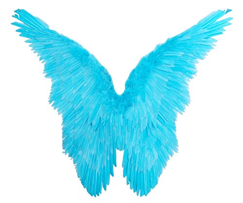 FashionWings (TM) Blue Butterfly Style Costume Feather Angel Wings Rio Jewel