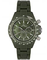 ToyWatch Fluo Chronograph Watch FL43HG All Hunter Green Unisex Plasteramic Plastic Ceramic Diamante Crystals