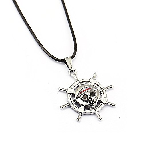 One Piece Monkey D Luffy Rudder Pendant Material Alloy Necklace Chain Cosplay Gift(B) (Monkey D Luffy Shirt compare prices)