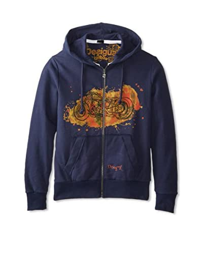 Desigual Men's Moto Zip-Up Hoodie