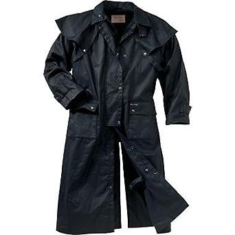 Amazon.com: Oilskin Duster: Work Utility Outerwear: Clothing
