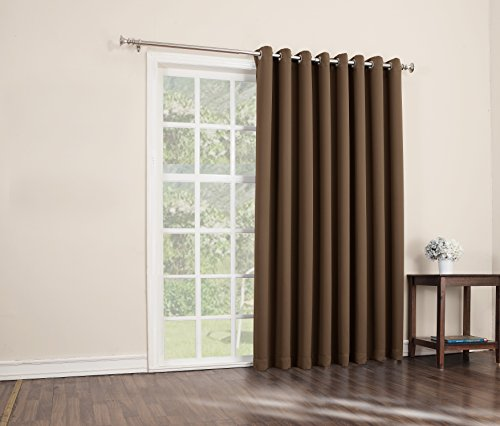 Sun Zero Easton Extra Wide Blackout Patio Curtain Panel 100 X 84 Inch Solid Barley Curtain