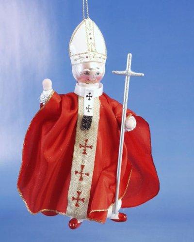 De Carlini John Paul II Exclusive Limited Edition Italian Glass Christmas Ornament