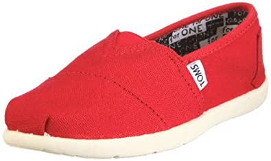 Youth Classic Shoes in Red Canvas size 12m US Little Kid