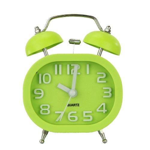 Fashion Oval Glocke Schreibtisch Wecker mit Nacht laut Alarm für Reise Jungen Mädchen Kinder Teens schwere Lagerschwellen (Grün) kaufen