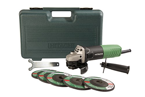 Hitachi G12SR4 6.2-Amp 4-1/2-Inch Angle Grinder with 5 Abrasive Wheels (Hitachi Angle Grinder compare prices)