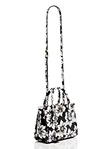 kate spade york Cameron Street Mini Candace Satchel Bag, Black Floral, One Size