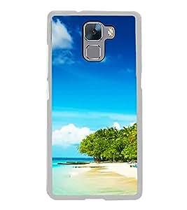 Beach 2D Hard Polycarbonate Designer Back Case Cover for Huawei Honor 7 :: Huawei Honor 7 Enhanced Edition :: Huawei Honor 7 Dual SIM