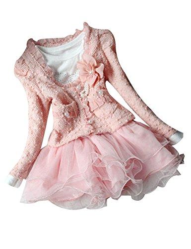 Baby Girls 2 Piece Cardigan Clothes Kids TuTu Dress Outfit
