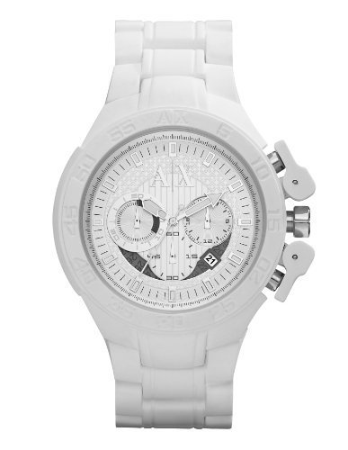 Armani Exchange AX1190 White Silicone Bracelet Men's Watch