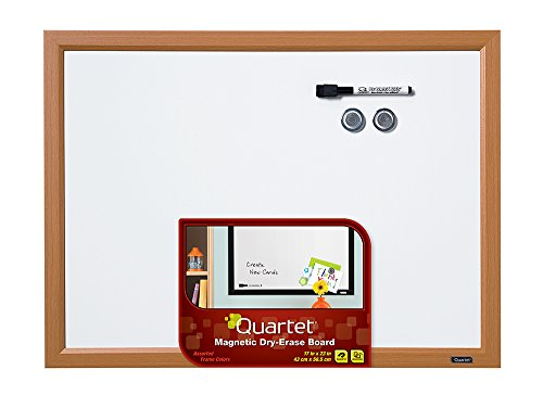 Quartet Magnetic Dry-Erase Board, 17 Inch X 23 Inch, Frame Color Varies Between Wood, White, Or Black (Mwdw1723M)