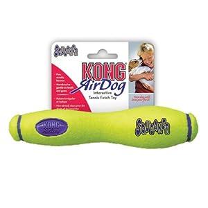 KONG Air Dog Squeakair Stick Dog Toy, Medium, Yellow