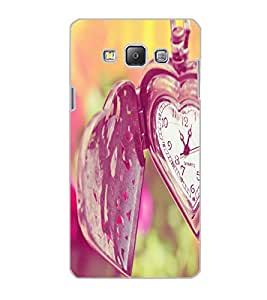 SAMSUNG GALAXY A7 HEART CLOCK Back Cover by PRINTSWAG