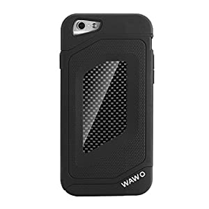 WAWO Iphone 6 PLUS Case - Full Protection Carbon Fiber Patch Case for Apple Iphone 6 PLUS 5.5 Inch (Black) by iphone 6 plus case