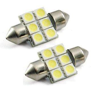 "Cutequeen Trading 10Pcs Green 31Mm(1.25"") 5050 6-Smd 6Smd 12V Festoon Dome Light Led Bulbs For Rv De3175 De3021 De3022 3175(Pack Of 10)"