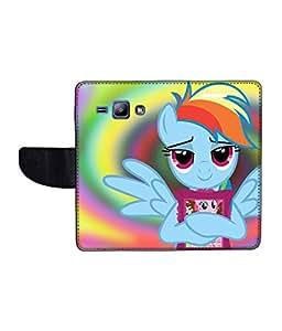KolorEdge Printed Flip Cover For Samsung Galaxy J1 Multicolor - (1476-45KeMLogo10035SamJ1)