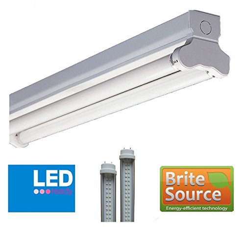 Cheap 4ft 20w Twin Led Ready T8 Indoor Fluorescent Batten Fitting High Frequency Light For Sale Oczask