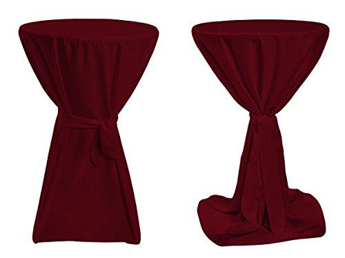 Stehtischhussen-Premium-Farbe-Durchmesser-nach-Wahl-Bordeaux-100cm-Durchmesser