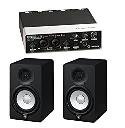 Steinberg UR22MKII 2-Channel USB Interface with 2 Yamaha HS5 Studio Monitors (Black)