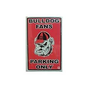 University of Georgia Bulldogs Fans Parking Only NCAA Tin Sign