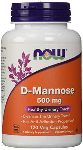 Now Foods D-mannose 500mg, Capsules, 120-Count (Packaging May Vary)