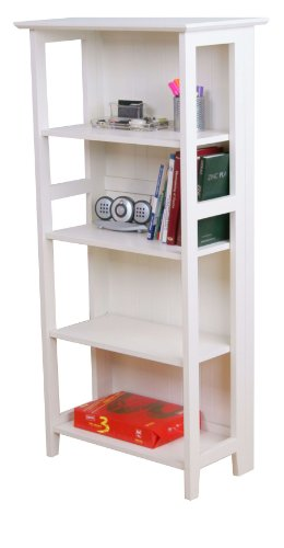 New England 4 Shelf Wooden Home Office Bookcase