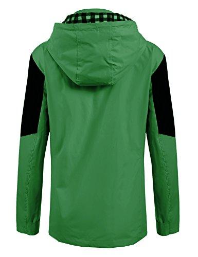 Meaneor Damen Herbst Winter Übergangsjacke Regenjacke Regenmantel Funktionsjacke Outdoor Wasserdicht Atmungsaktiv -