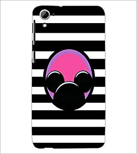 PrintDhaba Mickey Impression D-2001 Back Case Cover for HTC DESIRE 826 (Multi-Coloured)