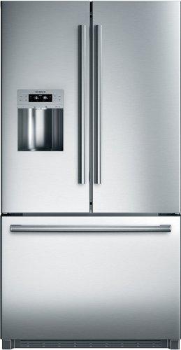 Bosch B26FT70SNS 25.9 cu. Ft. 800 Series Standard Depth French Door Refrigerator - Stainelss Steel