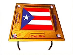 Amazon.com : Puerto Rico Domino Table with the Flag -Full