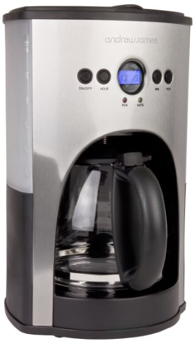 Andrew James Premium Filter Coffee Maker With Grinder : Andrew James 1100 Watt Digital Filter Coffee Maker With Fully Programmable Function And Reusable ...