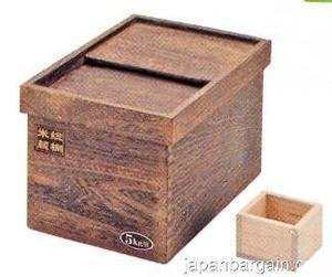 Amazon.com | Japanese Wooden Rice Storage Container 11 lbs