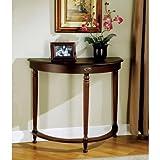 Monarch Specialties Crescent Hall Table, Walnut