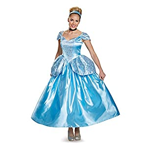 Disguise Women's Cinderella Prestige Adult Costume, Blue, X-Large