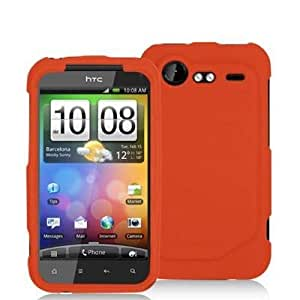 Orange Silicone Rubber Gel Soft Skin Case Cover for HTC Droid Incredible 2 6350 by Electromaster