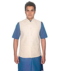 Rajubhai Hargovindas Cream Khadi Modi Jacket