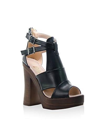 Bolsa Celestina Sandalo Con Tacco [Nero]
