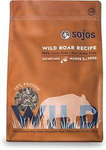 Sojos Wild Free-Range Dog Food Boar 4 lbs